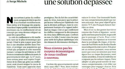 Tribune Les Echos Covid