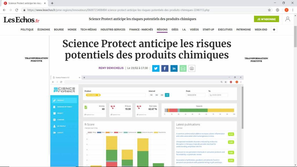 ScienceProtect - Presse - Les Echos